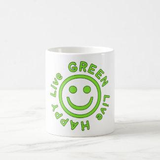 Ambiente feliz vivo Eco del verde vivo favorable Taza De Café
