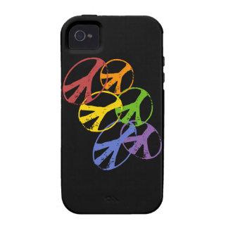 Ambiente gay del iPhone 4 del símbolo de paz Carcasa Case-Mate Para iPhone 4