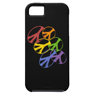 Ambiente gay del iphone 5 del símbolo de paz iPhone 5 fundas