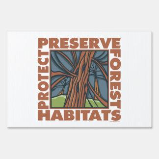 Ambiente, hábitats de la fauna letrero