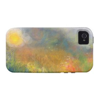 Ambiente soleado del iPhone 4 del campo del arco i iPhone 4/4S Fundas