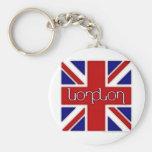 """Ambigram de """"Londres"""" en bandera BRITÁNICA Llaveros"""