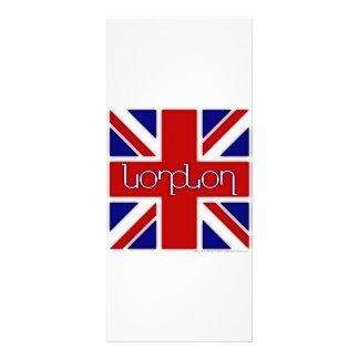 """Ambigram de """"Londres"""" en bandera BRITÁNICA Lonas Publicitarias"""