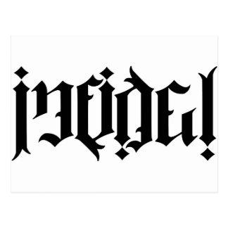 Ambigram infiel postales