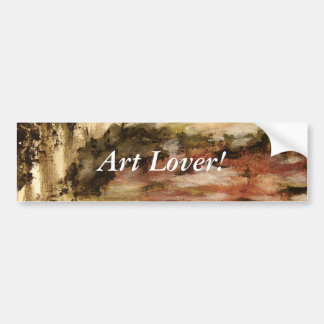 Ambiguous, Abstract Landscape Art Drips Painting Bumper Sticker