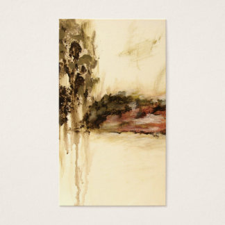 Ambiguous, Abstract Landscape Art Drips Painting Business Card