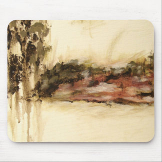Ambiguous, Abstract Landscape Art Drips Painting Mouse Pad