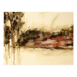 Ambiguous, Abstract Landscape Art Drips Painting Postcard