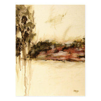 Ambiguous Abstract Landscape Art Drips Painting Postcard