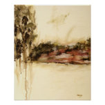 Ambiguous Abstract Landscape Art Drips Painting Poster