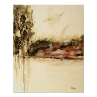 Ambiguous, Abstract Landscape Art Drips Painting Poster