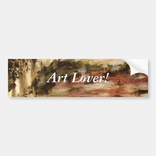 Ambiguous From Original Painting Bumper Stickers