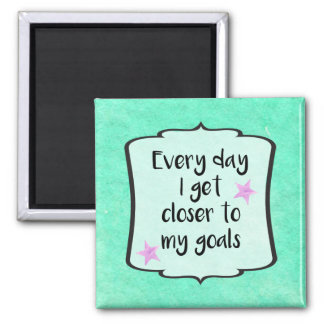 Ambition Achieving Goals Motivational Quote Magnet