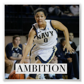 Ambition - Basketball Motivational Poster