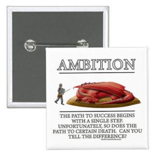 Ambition Fantasy de Motivator Pinback Buttons