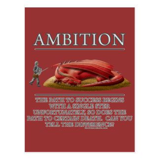 Ambition Fantasy (de)Motivator Postcard