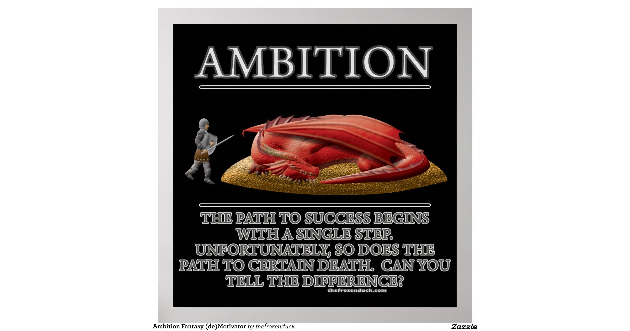 ambition_fantasy_de_motivator_poster ...