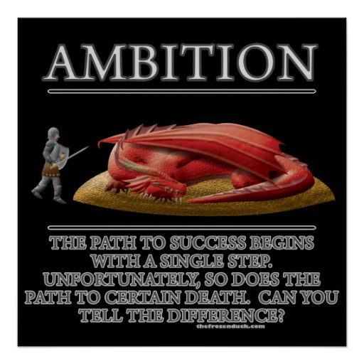 Ambition Fantasy (de)Motivator Poster | Zazzle