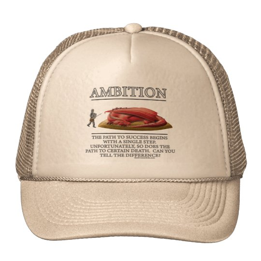Ambition Fantasy (de)Motivator Trucker Hat