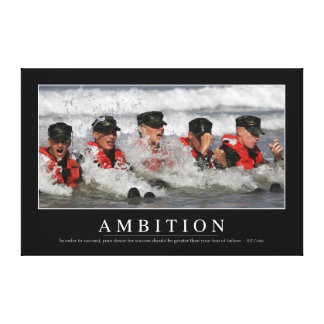 Ambition: Inspirational Quote Canvas Print