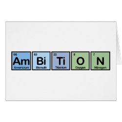 Greeting Card with Ambition design