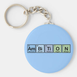 Basic Button Keychain with Ambition design