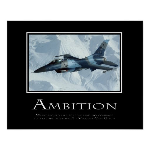 Ambition Poster | Zazzle