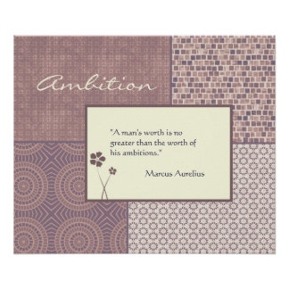 Ambition Quote Poster Customizable