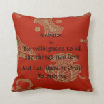 Ambition! Throw Pillows
