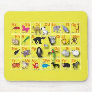 Ámbito animal en mi ABC Tapete De Ratón