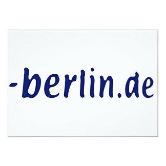 Ámbito de Berlín - berlin.de Invitación 12,7 X 17,8 Cm