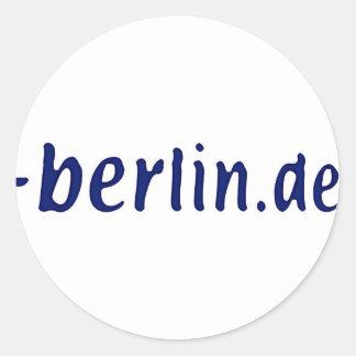 Ámbito de Berlín - berlin.de Pegatina Redonda
