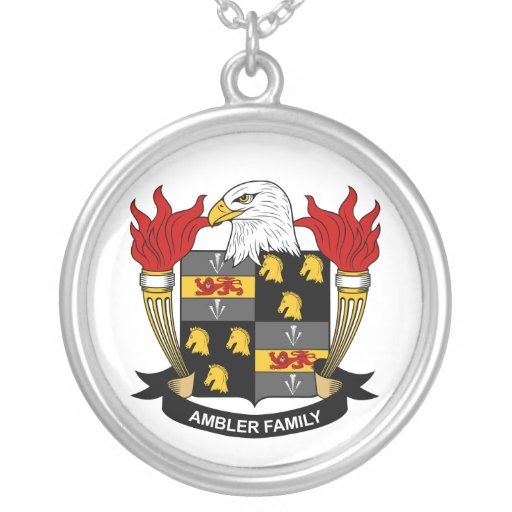 Ambler Family Crest Custom Necklace