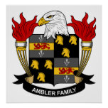 Ambler Family Crest Print