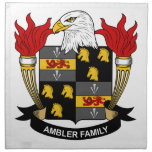 Ambler Family Crest Printed Napkin