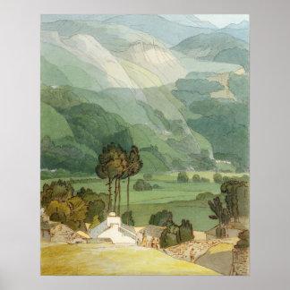 Ambleside, 1786 (w/c con la pluma y la tinta sobre póster