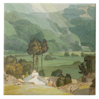 Ambleside, 1786 (w/c with pen and ink over graphit ceramic tile