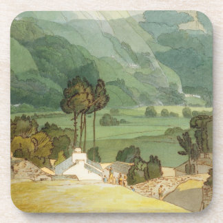 Ambleside, 1786 (w/c with pen and ink over graphit drink coaster