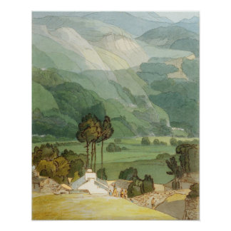 Ambleside, 1786 (w/c with pen and ink over graphit poster