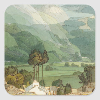 Ambleside, 1786 (w/c with pen and ink over graphit stickers
