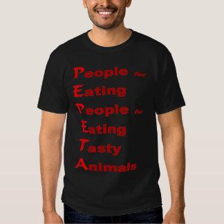 Ambos grupos de P.E.P.E.T.A. en una camisa