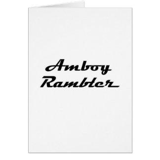 Amboy Rambler Gear Greeting Card