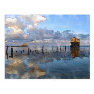Ambregis Caye Belize Tropical Destination Postcard