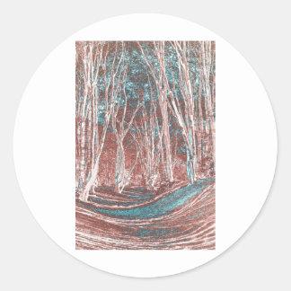 Ambresbury Banks Round Stickers