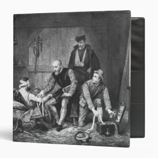 Ambroise Pare treating wounded soldiers Vinyl Binder