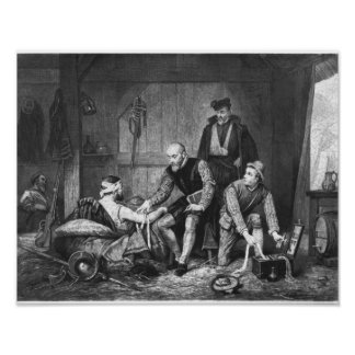 Ambroise Pare treating wounded soldiers Poster