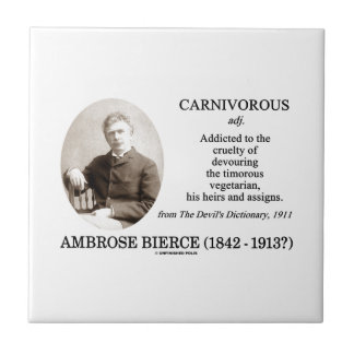 Ambrose Bierce carnívoro el diccionario del diablo Azulejo Cuadrado Pequeño