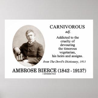Ambrose Bierce carnívoro el diccionario del diablo