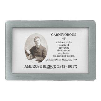 Ambrose Bierce Carnivorous The Devil's Dictionary Belt Buckle