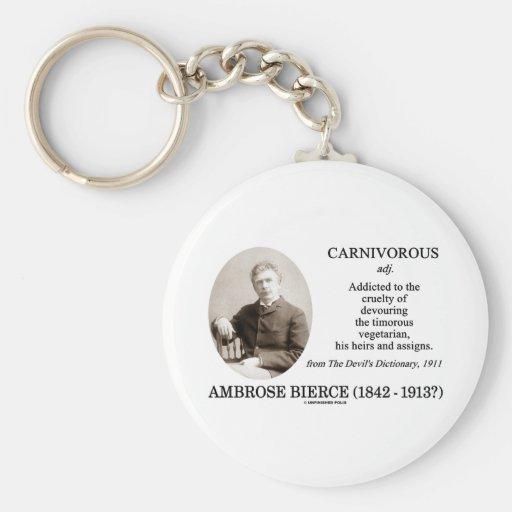 Ambrose Bierce Carnivorous The Devil's Dictionary Basic Round Button Keychain